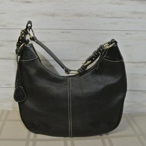 DOONEY BOURKE Black All Weather Leather Bag Purse